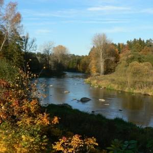 Řeka Sázava u Mrzkovic