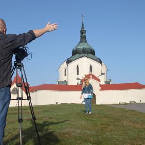 Štáb ruské Toulavé kamery natáčí na Zelené hoře